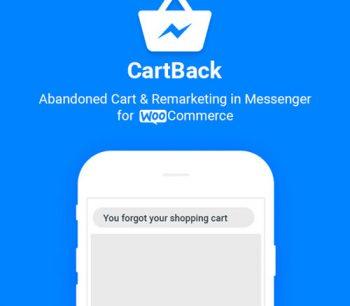 CartBack - WooCommerce Abandoned Cart & Remarketing in Facebook Messenger